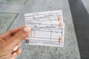 Supratours bus ticket