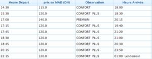 Mrrakech to agdir bus schedule